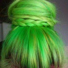 HAIR CHALK Lime Green // Temporary Hair Color // by SalonChalks, $1.99