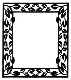 cut paper design Rectangle Frame
