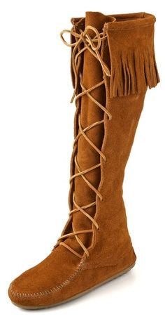 Minnetonka Lace Up Knee High Boots