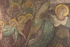Oil Painting Spinello Aretino Saint Michael And Other Angels 30 x 44 inch  76 x 112 cm  on High Definition HD canvas prints is for Gifts And Garage Gym And Kids Room Decoration art -- Check out this great product.