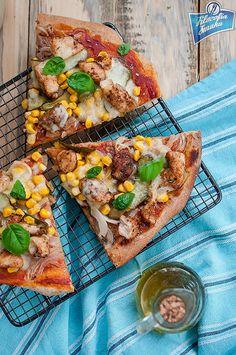 Razowa pizza z kurczakiem