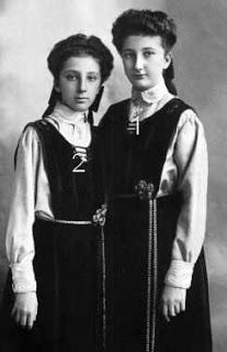 Principessa Eudossia 1898+1985 e  Principessa  Nadejda 1899+1958 figlie di re Ferdinando I di Bulgaria 1861+1948 e di Maria Luisa di Parma 1870+1899