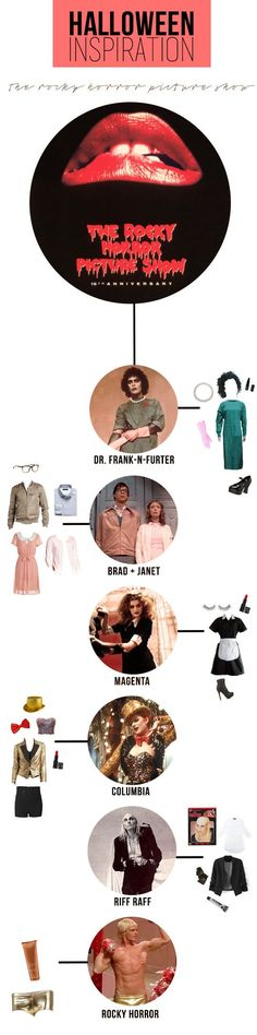 Rocky Horror Picture Show Halloween costume inspiration