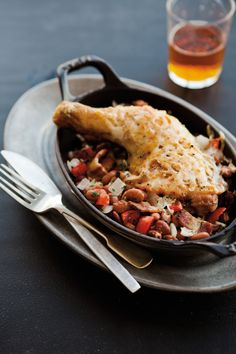 Chicken with Beans, Bacon and Cheddar #FathersDay