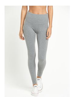 V by Very Confident Curve Petite Leggings - Grey The perfect pick to create a streamlined silhouette in comfort - these Confident Curve petite fit leggings from V by Very add sleek appeal to your laid-back looks. Featuring a tummy control panel and a cotton rich fabric, these leggings flatter your petite figure to make the most of your curves, and the stretchy quality means you'll always achieve the perfect fit! Styling Ideas Keep things casual and pair with lace up pumps and a slogan tee…