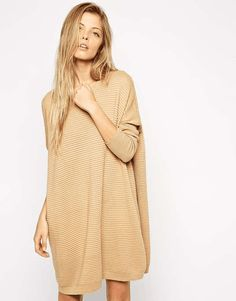 ASOS | Sweater Dress In Ripple Stitch #asos #sweater #dress