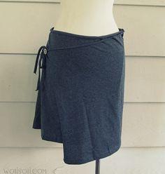Brassy Apple: DIY Wrap Skirt from a Tshirt