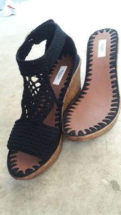 (notitle) - my crochet shoes - Crochet Sandals, Crochet Boots, Crochet Slippers, Love Crochet, Crochet Shoes Pattern, Shoe Pattern, Bohemian Sandals, Shoe Crafts, Knit Shoes