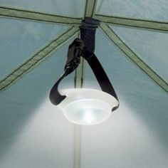 DomeLit Tent Light... Small, light, and just throw it in your bag, and you will be a happy camper!