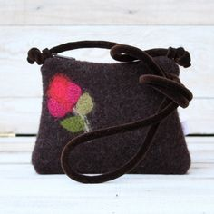 Chocolate Brown Recycled Wool Cross Body Purse by karenmeyers, £16.00