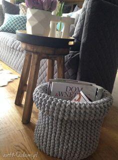KOSZ GIANT. $59 T Shirt Yarn, Yarn Projects, Merino Wool Blanket, Container, Basket, Knitting, Handmade, Home Decor, Instagram