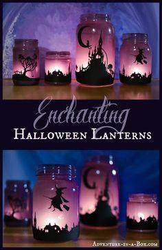 Enchanteur Halloween Lanternes: tourner des pots de maçon en Lanternes et d'explorer de lumière avec des enfants