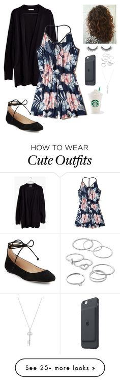 """Cute outfit"" by ariespinosa333 on Polyvore featuring Madewell, Hollister Co., LC Lauren Conrad, Karl Lagerfeld and Apple"