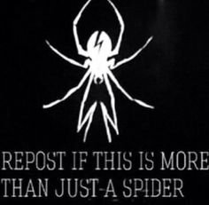 This Is WAY (hehehe I like puns) More than Just a spider to me comment if it is to you and if your a killjoy, well then MAKE SOME NOISE!