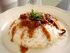 Rajma Chawal (red kidney bean curry served with rice)