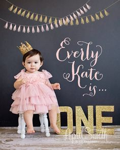 Baby photographer one year birthday session upland photograp One Year Birthday, Girl First Birthday, Baby Birthday, Birthday Ideas, 1st Birthday Photoshoot, Foto Newborn, First Year Photos, One Year Pictures, Baby Pictures