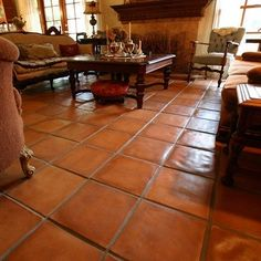 Saltillo tile - Rustic Cement Tile Pavers from Avente Tile Rustic Kitchen, New Kitchen, Kitchen Decor, Kitchen White, Kitchen Design, Kitchen Tiles, Kitchen Flooring, Laminate Flooring, Kitchen Hoods