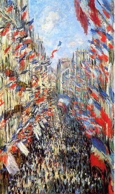 La rue Montorgueil by Claude Monet