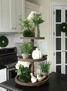 Kitchen Decor - The small thing decor in your home should tell your story. If you prefer to decor your house with small thing, you must stay informed about Three Tier Stand ideas. There is a multitude of styles available on the market. Cute Dorm Rooms, Cool Rooms, Farmhouse Side Table, Farmhouse Decor, Modern Farmhouse, Farmhouse Design, Country Farmhouse, Country Decor, French Country