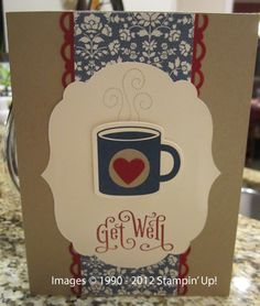 Great idea by Cindy to use the Scentsational Seasons mug for a Get Well card with Perfectly Penned.
