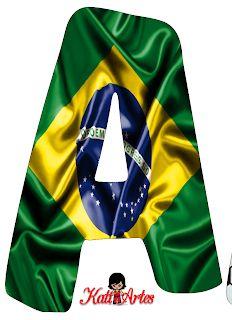 EUGENIA - KATIA ARTES - BLOG DE LETRAS PERSONALIZADAS E ALGUMAS COISINHAS: Alfabeto Bandeira do Brasil / Futebol