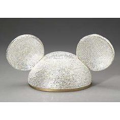 """""""Bling Bling Mickey Mouse Ears"""" -- Laughing at the poster's comment: """"If I ever saw a kid wearing rhinestone Mickey Mouse ears, I wouldn't know who to slap first, myself or the parent. Handmade with over 4000 Austrian crystals was designed by Madeline Beth, this glam update of felt MM ears sells for $1200."""""""