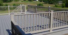 brown deck railing