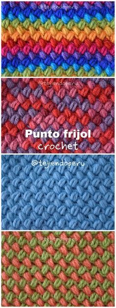 Crochet bean stitch (youtube video in spanish but with english subtitles)