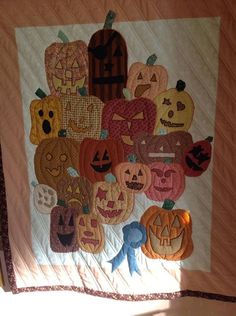 """""""One of my first Halloween quilts made back in the early nineties...  This was made on a really tired old Singer that was beyond repair as p..."""