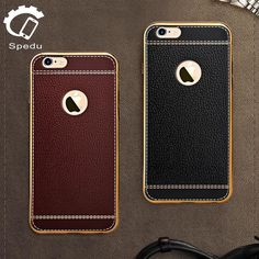 Spedu have come up with this fashionable yet protective case which combines Litchi leather and a metal plated frame. The Litchi leather makes your phone more co