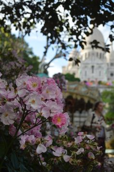 Sacre Coeur from the bottom of the hill, summer time in France.