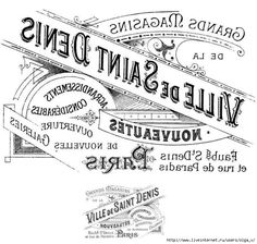 Transfer Printable - Amazing Paris Ephemera - The Graphics Fairy--going to try the wax paper transfer method! Vintage Diy, Vintage Labels, Vintage Ephemera, Vintage Paper, Vintage Images, Graphics Vintage, French Typography, Vintage Typography, Graphics Fairy