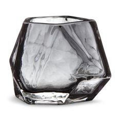 Wit & Delight Faceted Geometric Candle Holder - Gray