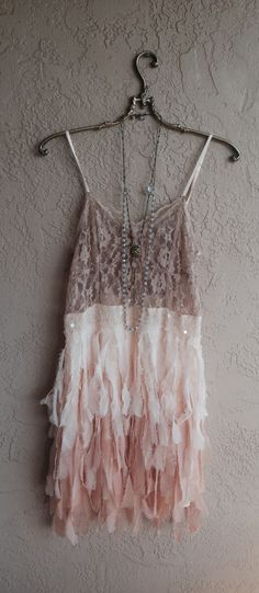 Image of Free People Rare Faux Feather Flapper great gatsby dress with beads and sequins and lace