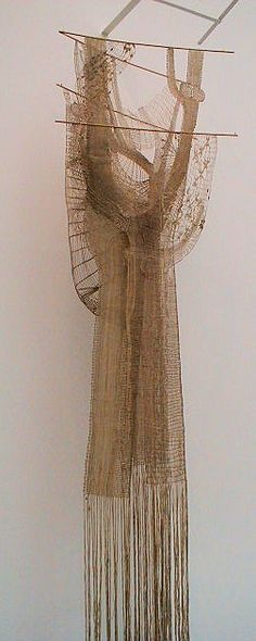 Woven Hanging by Jitka Stenclova. Calais Museum of Lace. - bobbin lace