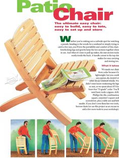 Folding Patio Chair Plans - Outdoor Furniture Plans