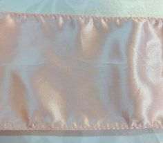 Light Pink Satin Trim    4  inches wide    2 Yards