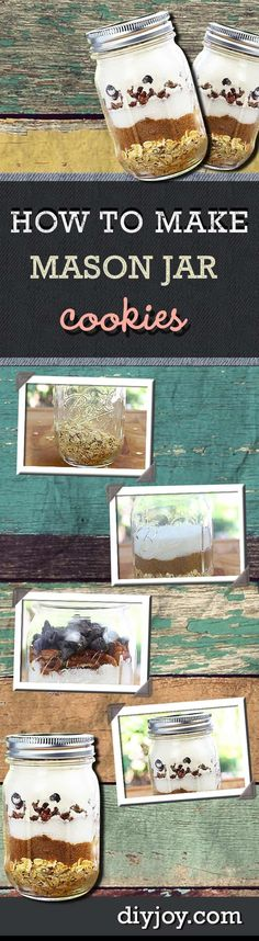 How to Make Mason Jar Cookies - Recipe and Tutorial for Easy Gifts in a Jar