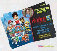 Invitación de cumpleaños de patrulla de la por kidspartycreations