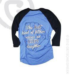 Alpha Delta Pi Baseball best kind of daughter