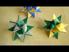 Fröbelstern basteln - Anleitung zum Weihnachtssterne basteln - YouTube