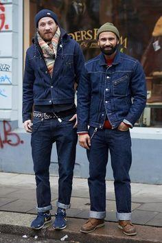 Denim on Denim, Brooklyn Street Style, Men's Fall Winter Fashion.