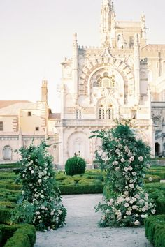"""From the editorial """"Dreaming of a Wedding Destination That Feels Like a Real-Life Fairytale? Look No Further."""" This venue was a formal royal palace of the Portuguese monarchs and is now one of the most beautiful historic hotels in the world. Talk about a real-life fairytale! 👸  Photography: @malvina_frolova #portugalwedding #castlewedding #fairytalewedding #grandwedding #destinationwedding Wedding Ceremony Floral Arch, Wedding Reception, Wedding Locations, Wedding Venues, Classic Garden, Marquee Wedding, Beautiful Castles, Destination Wedding, Wedding Destinations"""