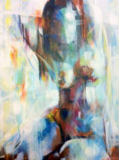 Art House Summer Exhibition 2012.  Samuel Durkin: 'Nude Squared'.  Acrylic on canvas - £294