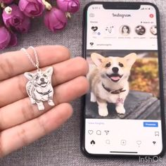 Engraved Pet Necklace Sterling Silver ideas for her Personalized Pet Necklace Dog Necklace, Engraved Necklace, Argent Sterling, Sterling Silver, Dog Jewelry, Animal Jewelry, Jewelry Crafts, Jewelry Ideas, Gifts For Pet Lovers