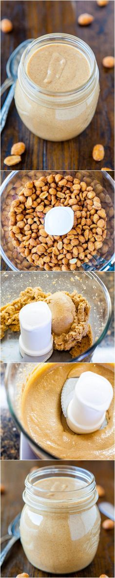 Homemade Peanut Butter - A bag of peanuts and 5 minutes is all you need to make your own PB! Once you try homemade, you'll never be satisfied with storebought!