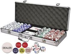 Da Vinci Premium Set Poker Set with Card-Suited Poker Chips, 6 Dealer Buttons, Cards, & Dice Da Vinci #Amazon #ForTheDadWhoLikesToHostWeeklyGameNights