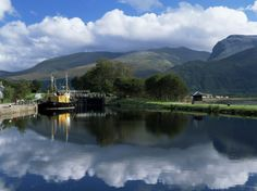 View Across the Caledonian Canal to Ben Nevis and Fort William, Corpach, Highland Region, Scotland