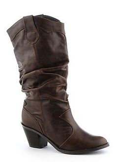 Brown Cowgirl Boot - $49 Brown Cowgirl Boots, Bridesmaid Duties, Everyday Shoes, Mid Calf Boots, Country Girls, Low Heels, Swag, Converse, Footwear