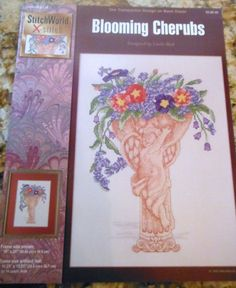 This would be an ideal Valentines project!    BLOOMING CHERUBS Pattern Leaflet by Stitch by CraftyCrossStitches, $3.75